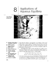 Chapter 08 - Applications of Aqueous Equilibria