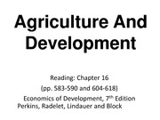 Topic10_Agriculture And Development