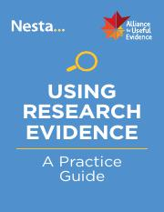 Using Research Evidence for Success - Nesta.pdf