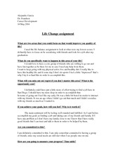Life change assignment