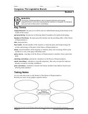 Gov Ch 5 Sec 3 Interactive Reader and Study Guide