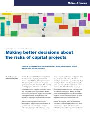 Making better decisions about the risks of capital projects.pdf