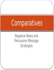 Persuasive Messages vs Negative News Messages and Building Successful Persuasion