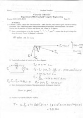 ECE463 Official Exam 2013 Test Solutions