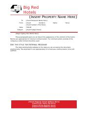 BRH Property Memo template