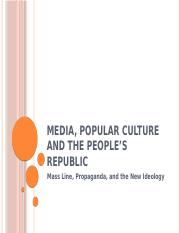 Media, Popular Culture and the People's Republic