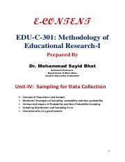 Sampling for Data Collection - Dr. Mohd Sayid Bhat.pdf