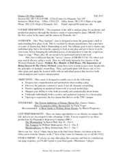 Drama 120 Syllabus - Perry, Fall 2013