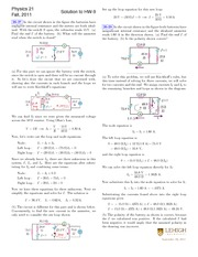 Fall 2011 Homework 9 Solutions