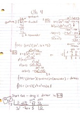 College Algebra 122, Chapter 4