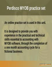 MYOB practice set+software