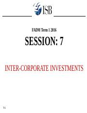Session 7 Inter-corporate Investments
