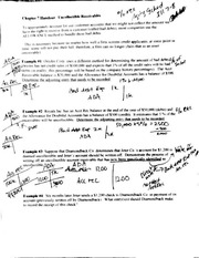 Acct 301 Uncollectible Receivables Handout (Student Answers)