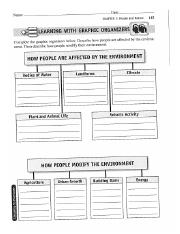 People and Nature Graphic Organizer