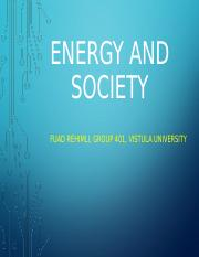 energy and society (Fuad)