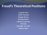 Freud's Theoretical Positions