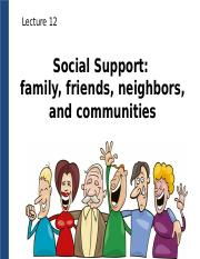 Lecture 12_C2_Social Support