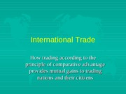 Lecture26Post--INTERNATIONALTRADE
