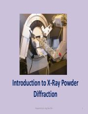 Introduction to X-Ray Powder Diffraction and solution 2016