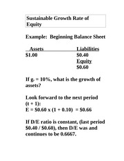 Sustainable Growth Rate of Equity - Notes