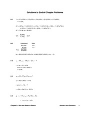 Chapter 8 Homework Problems Solutions