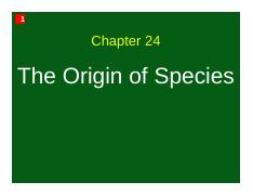 Ch 24 - The Origin of Species (1 slide per page)