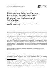 Romantic Relationships on Facebook.pdf