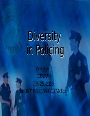 Diversity in Policing PowerPoint.ppt