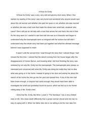 explication essay a rose for emily