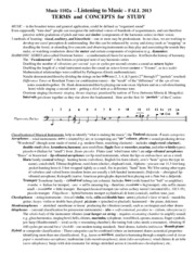 Music Terms and Concepts