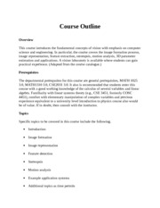 EECS 4422 Course Outline