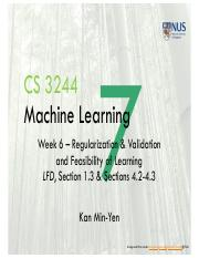 Lect7 Regularization and Validation and Feasibility of Learning
