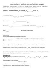 Sect 5_1 - Antiderivatives and Indefinite Integrals.docx