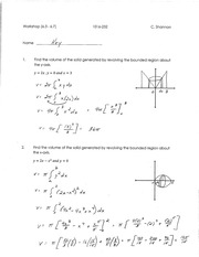 Calculus for Engineering Technology 2 Workshop 3 answers