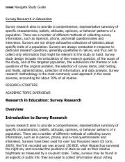 Survey Research in Education Research Paper Starter - eNotes
