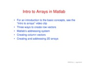 12. Intro to arrays