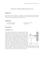 Lab 4: ComputerAssistedMeasurementOfG