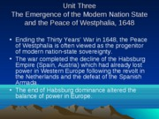 Unit Three - Emergence of Modern Nation State