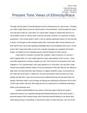 MidTerm - Present Time Views of Ethnicity.docx