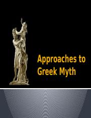 1-23-17 Approaches to Greek Myth