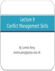Lecture 9_Conflict Management Skills_Student.pptx