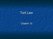 Legal Studies 2700 Tort Law Slides