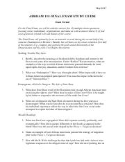 AA133 Final Exam Study Guide (3)
