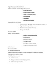 Project Management Institute Notes