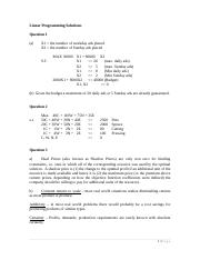 Linear Programming Solutions-1