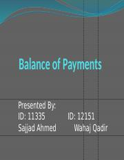 Balance of Payments