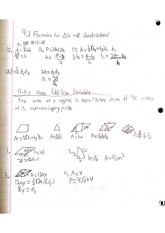 Geometry Ch 9 notes