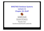 Lecture 11 - OLAP