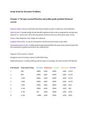 Study Guide for Economic Problems.docx