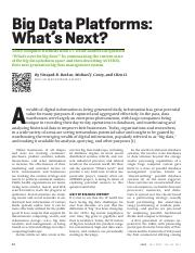 Big data platforms What';s next.pdf